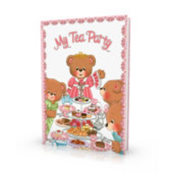 Tea Party Book - Personalized Keepsake Children's Story Book - My Tea Party - Made to order - Learning Toys
