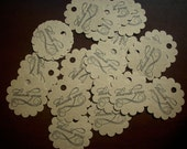 25 Kraft Scalloped Thank You Tags