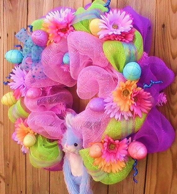 It 39 s easter bursting with color wreath door - What are the easter colors ...