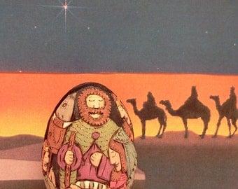 Hand Carved Nativity Scene