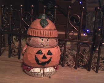 Hand Carved Trick or Treater