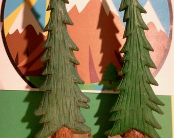 Pine Tree Woodcarving