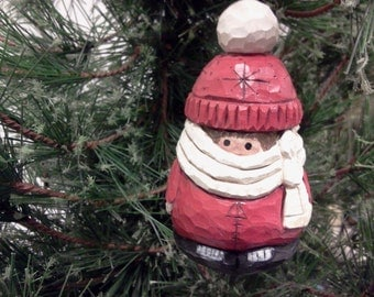 Baby in a Red Snowsuit Ornament