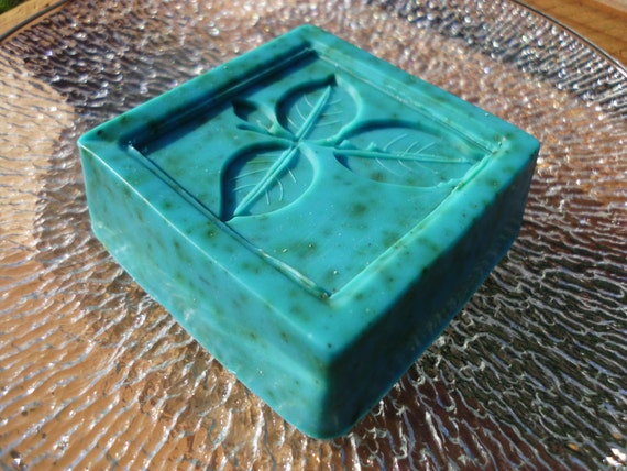 Handmade Avocado Cucumber Soap, Blueberry scented with Crushed Sage, 4 oz