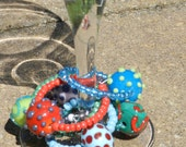 Fun Funky Wine glass charms - set of 6