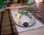 St. Patrick's Day Colorful Decoupage Wooden Horseshoe Tag