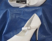 Vintage White Cute Sexy Pumps With Straps Nurse Style