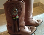 Zodiac Cowboy Boots Brown with Tassles