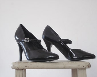 Vintage Cute Sexy Pumps With Straps Detective Style