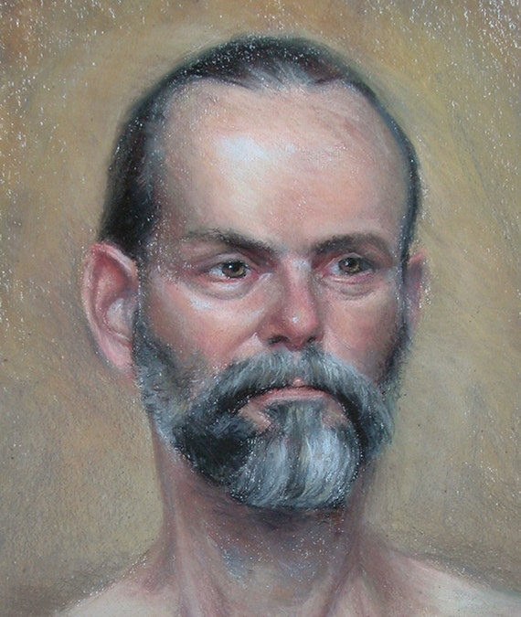"""Custom painted portrait of person in pastels 11""""x 14"""