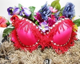 Burlesque Middle Eastern Belly Dancing Bra SCA Cosplay