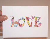 Hippy Love - Hand crafted Love Card