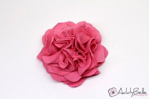 READY TO SHIP Pink Fabric Flower - Flower Hair Clip - Hair Accessories