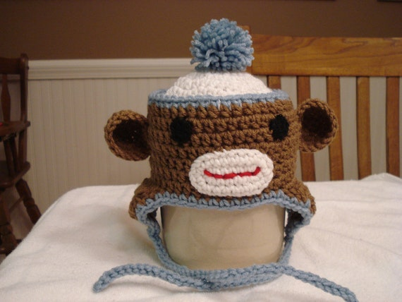 Sock Monkey Hat for all ages