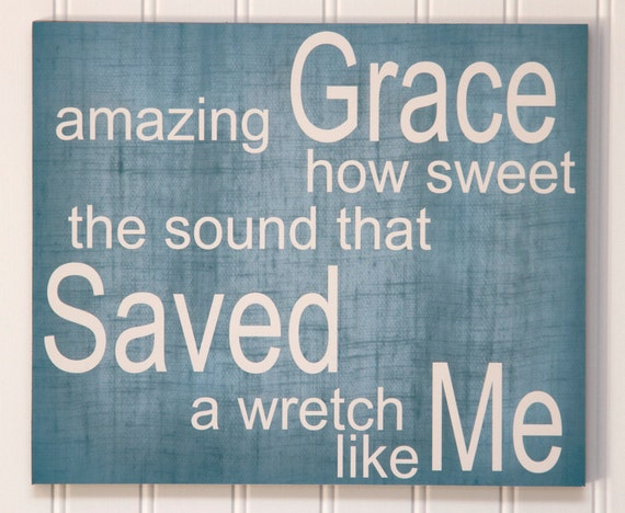 Amazing Grace, 10x12 Stand Out Print