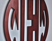 """48"""" - 30"""" Large Wooden Monogram. X-Large wood monogram. Extremely large wood letters. 3/4"""" thick. Any size. Any stain. Any color. Any font."""