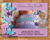 Custom Photo Birthday Invitation - Butterfly Collection - DIY Printable - printline