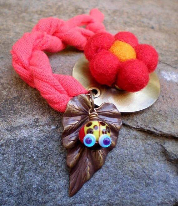 Ladybug Picnic bracelet