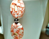 Peaches and Cream Turquoise Beaded Bracelet