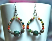 Jardin - Beaded Jasper Dangle Earrings