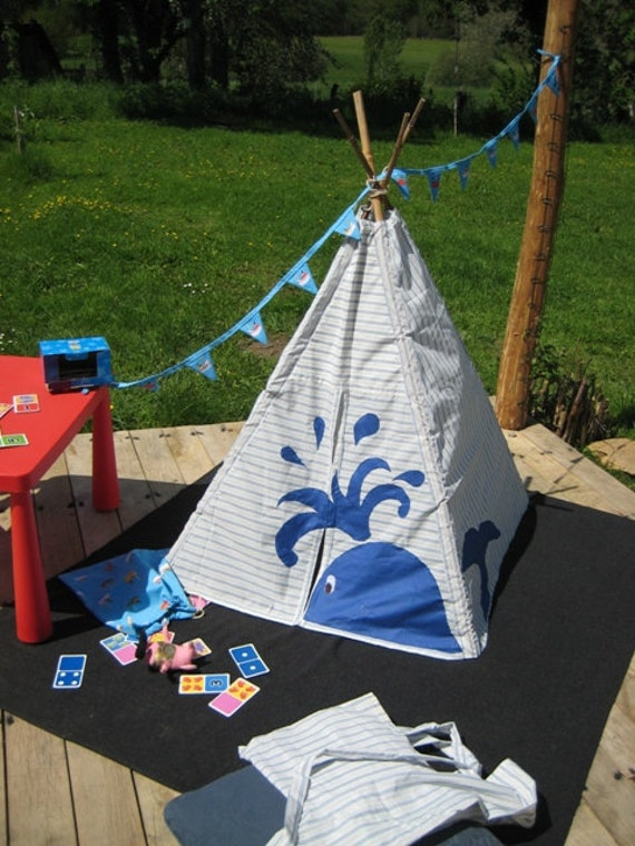 Toddler's Wigwam Play Tent with Cheeky Whale Appliqué
