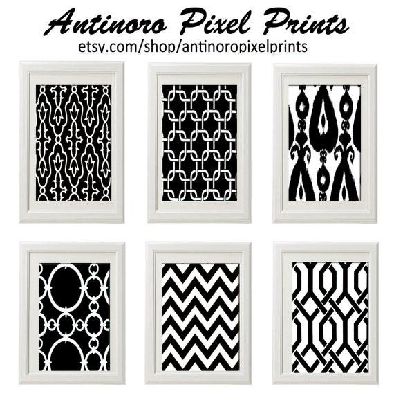 Black And White Contemporary Wall Decor : Items similar to black and white wall art vintage modern