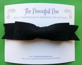 Headband - Black Felt Bow