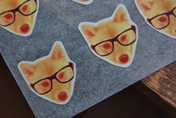 Shiba Inu Glasses Sticker