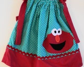 Custom Boutique  Elmo Pillowcase dress   Sizes 0-6mo. 6-12mo, 12-18mo, 18-24mo, 2t, 3t, 4t, 5/6, 7/8