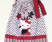 Inspired Hello Kitty 4th of July - Statue of Liberty Pillowcase Dress