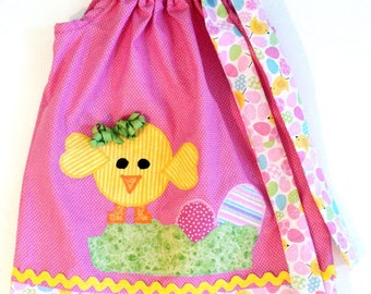 """Baby Girl Easter Dress - """"My Little Chic-A-Dee""""0-3mo,3-6,6-12,12-18-24mo,2t,3t.4t,5/6.7/8,9/10.11/12"""