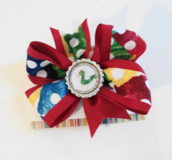 Very Hungry Caterpillar Inspired - UPICK Clip or Headband - Infant Toddler Teen Girl