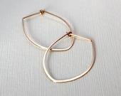 Petal Hoop earrings . 14K Gold fill . Medium 1.4 inches . Simple Classy Modern