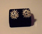 Vintage Sarah Coventry Silver Earrings, mod clip on earrings, fashion jewelry, Like New