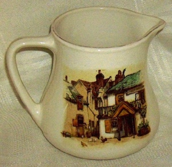 Clearance Sale Creamer English Ware L&Sons, rustic 1944 Lancaster Cream Pitcher