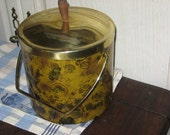 Retro Ice Bucket Spotted Gold,Browns and Black Leopard/Great For PartiesSALE 25% CLEARINGOUT25 Must Be Used at Check Out Can not Change