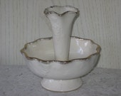 Epergne Pretty Dainty  Bowl  Gold Trim  :)s