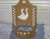 Bless this House Planter Home Decor with Ducks or Geese on It