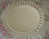 SALE 20 % Off Coupon Code SPRINGSALE / Wicker Glass Plate From Italy