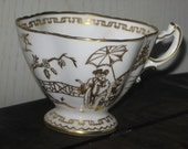 Gold and White Beautiful Dainty Tea Cup China
