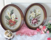 Embroidery Set of Two Pictures Of Shabby Chic Roses. So Pretty