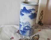 Blue Chinese Vase Marked 2