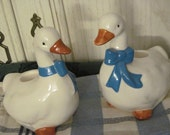 Country Duck Or Geese Candle Holders Sweet