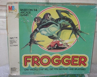 FROGGERS 1981 Age 7-14 One Wrong Leap will get you SQUISHED, Preschool Board Game, Preschool Vintage Board Game, Vintage board Game,