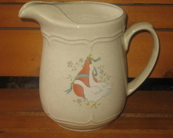 MARMALADE International Geese or Duck Pitcher, Ducks,Geese, Vintage Pitcher, Vintage Kitchen, Vintage Dishes, Country Decor, Home Decor :) S