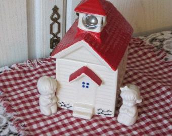 Vintage Metlox School House Cookie Jar  :)