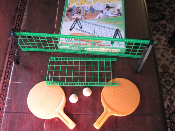 Nerf Table Ping Pong 1982 goes Together in Seconds, Play Anywhere -Game Sale Buy 1 get 2nd Half Price