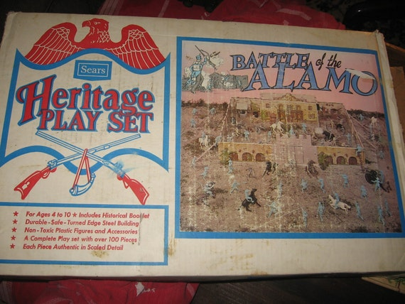 Reserved  BATTLE of the   ALAMO Set HERITAGE Play Set Sears Open to Offers