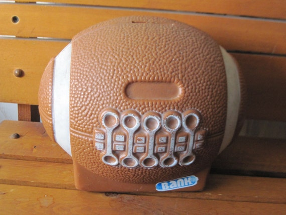 Football Plastic Piggy Bank