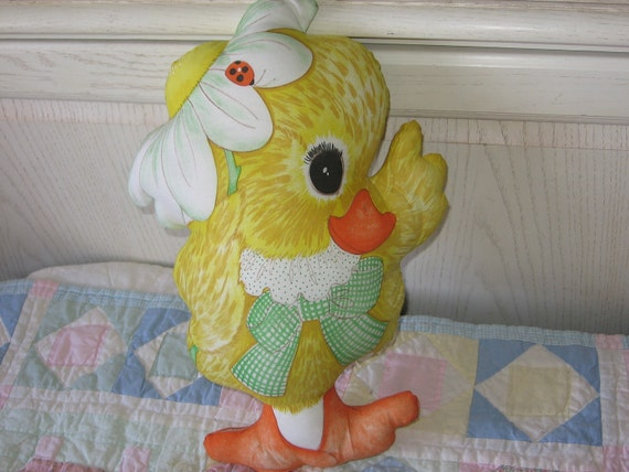 Bright Happy Baby Chick Pillow